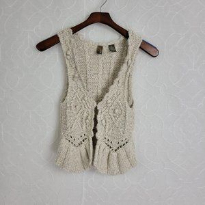 BKE Knitted Cardigan Vest Sz. S